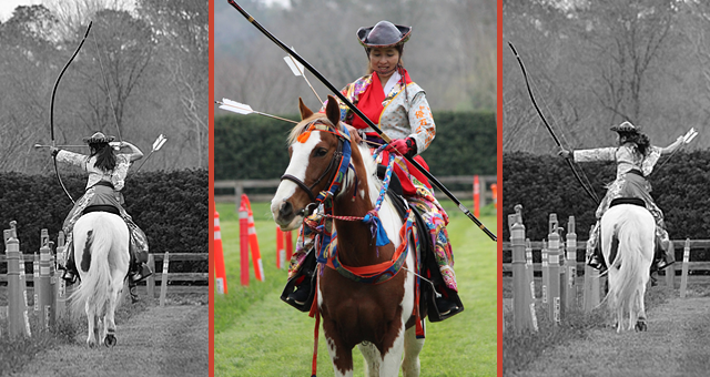 Yabusame horse archers from Japan visit the Atlanta area!